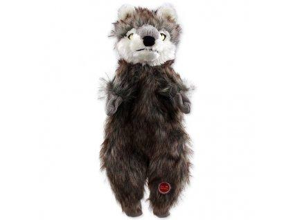 DOG FANTASY Skinneeez vlk plyšový 34 cm