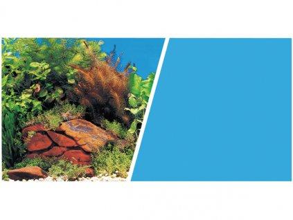 Pozadí MARINA oboustranné rostliny / modré 45 cm x 1 cm