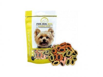 FINE DOG MINI Duo-Srdíčka MIX 100 g