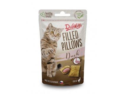 Plněné polštářky pro kočky kachní 40g