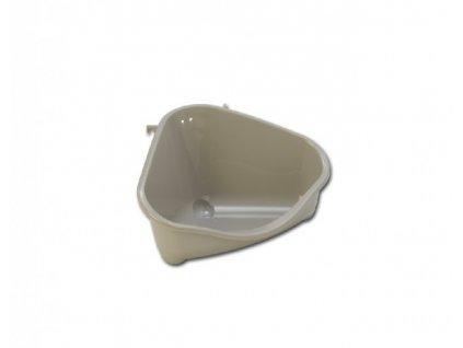 """Toaleta rohová """"Moderna"""" šedá"""