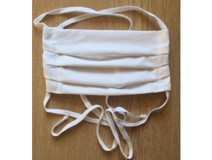 Rouška skládaná - bílá (Uchycení Tkaloun, V. Dětská, Vrstvy 2)