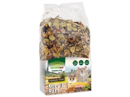 Krmivo NATURE LAND Complete pro myši a potkany (700g)