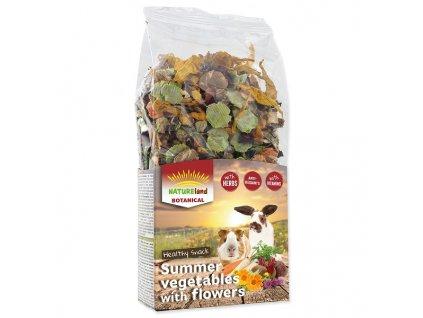 Pochoutka NATURE LAND Botanical letní zelenina s květy (100g) 1