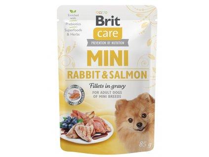 BRIT CARE dog MINI kapsa ADULT rabbit salmon