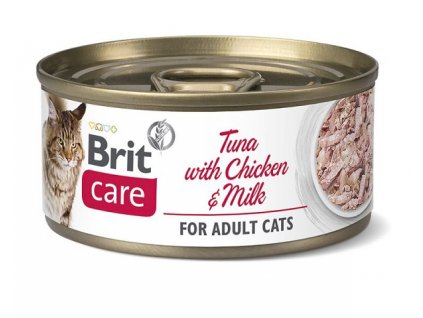 brit care cat tuna with chicken and milk 70g