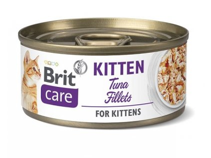 brit care cat kitten tuna fillets 70g