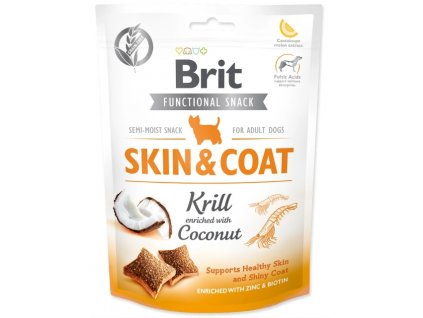 brit care dog functional snack skin and coat krill 1