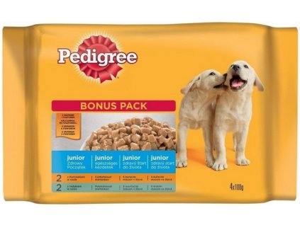 pedigree junior bonus 4pack 400g