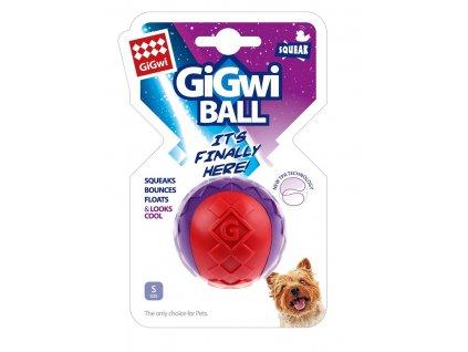 GiGwi Ball míček S červeno purpurový