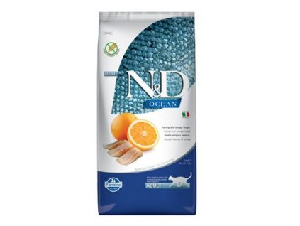 n d ocean cat adult herring orange 5kg