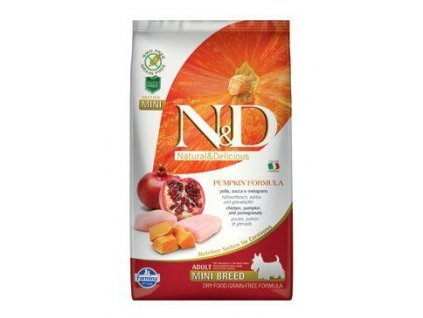 n d gf pumpkin dog adult mini chicken pomegranat 2 5kg