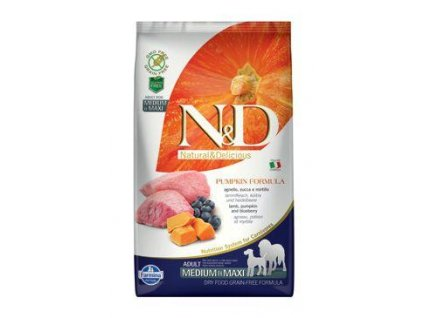 n d gf pumpkin dog adult m l lamb blueberry 2 5kg