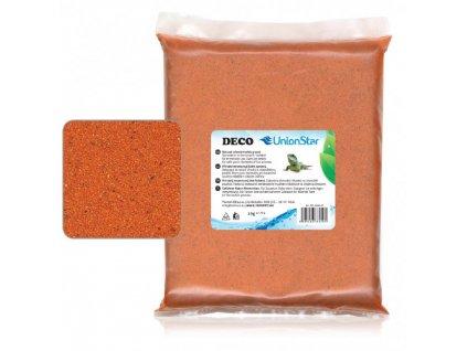 Unionstar Deco písek oranžový 0,7-1,2 mm, 2 kg