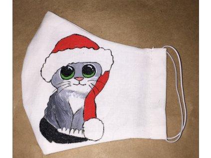 vánoční kočička