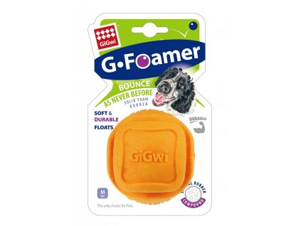 GiGwi Foamer Ball míček z tvrzené pěny oranžový