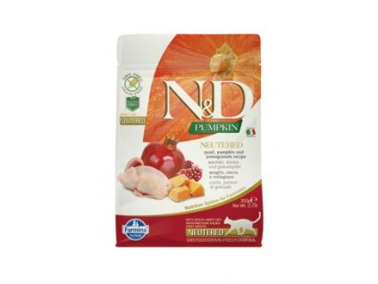 N&D Pumpkin CAT NEUTERED Quail & Pomegranate 300g