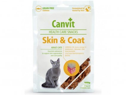 12147 canvit snacks cat skin coat 100g