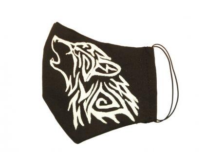 Rouška malovaná - vlk