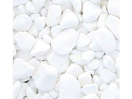 Mramorové valounky Thassos jasně bílé kg