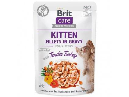 BRIT Care Cat Kitten Fillets in Gravy with Tender Turkey (85g)