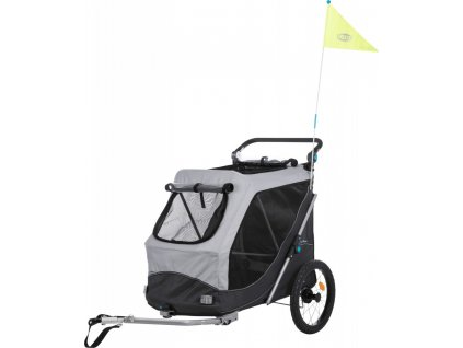 vozik za kolo s funkci rychleho skladani l 74 x 95 x 103 143 cm sedy