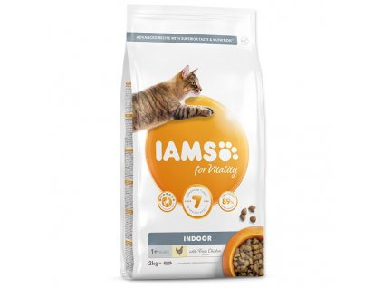 IAMS for Vitality Indoor Cat Food with Fresh Chicken (2kg)
