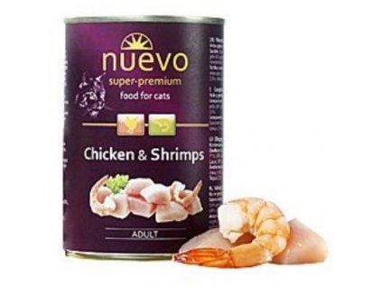 Nuevo Adult kočka kuře a krevety konz. 400g