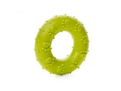 Zelený kroužek tlapky TPR 7 cm