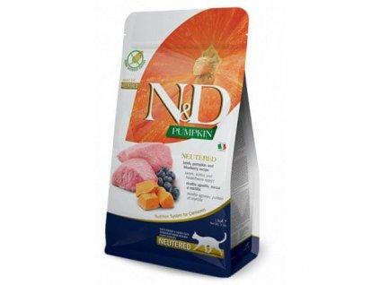N&D Pumpkin CAT Neutered Lamb & Blueberry 1,5kg1