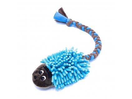 Ježek hnědý s modrou