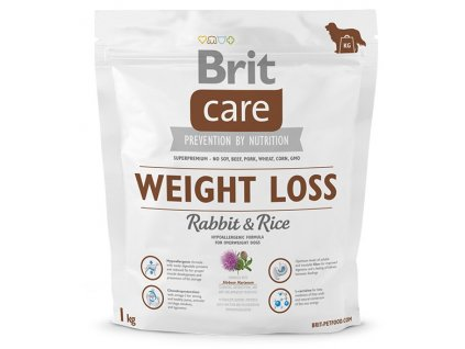 brit care weight loss rabbit rice 1kg original