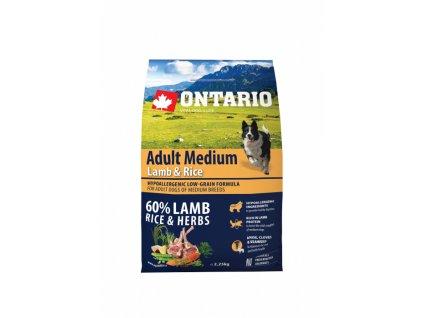 ontario adult medium lamb rice 2 25kg original