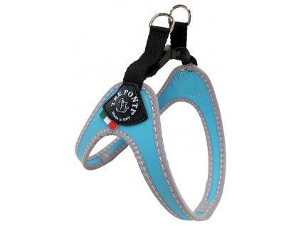 Postroj TRE PONTI reflexní do 6 kg světle modrý