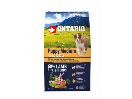 ontario puppy medium lamb rice 6 5kg original