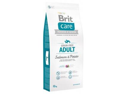 brit care grain free adult salmon potato 12kg original