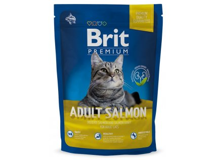 brit premium cat adult salmon 300g original