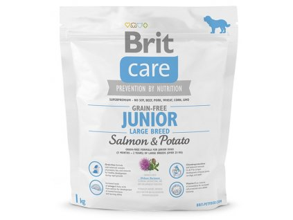 brit care grain free junior large breed salmon potato 1kg original