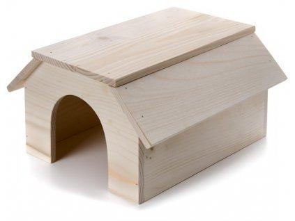 32433 jk animals drevene domky masiv pro hlodavce kralik 31 22 16 cm 1