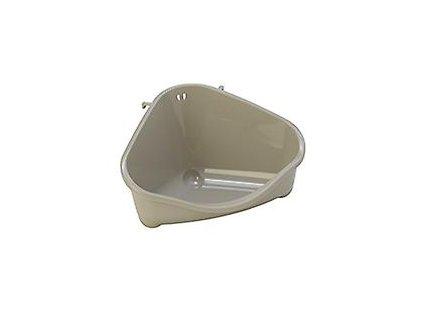 Toaleta rohová S 18,3 cm šedá