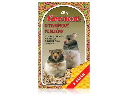 Granum - vitamínové perličky pro hlodavce s medem, 20 g