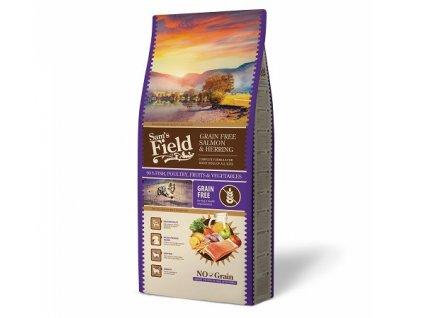 44466 sams field grain free salmon herring 13 kg 1