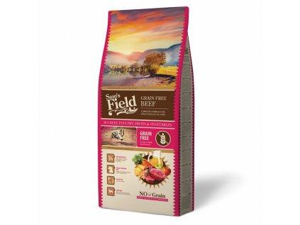 44454 sams field grain free beef 13 kg 1