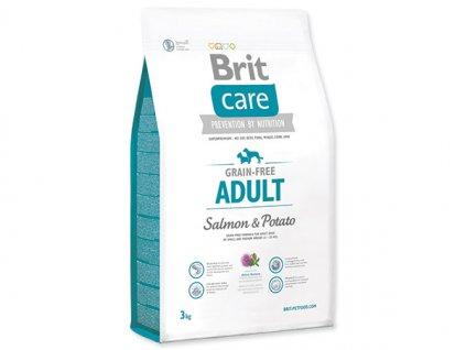 7318 brit care grain free adult salmon potato 3 kg