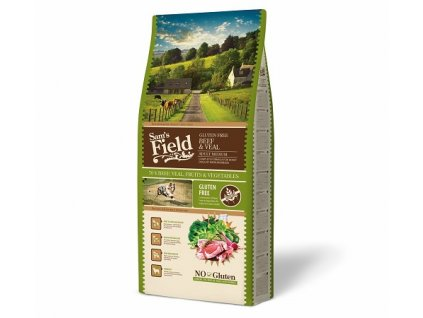 44581 sams field gluten free adult medium beef veal 13 kg 1a