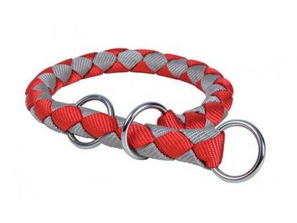 obojek pro psy cavo trixie cervena stribrna l 47cm original