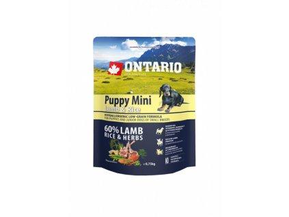 ontario puppy mini lamb rice 0 75kg original