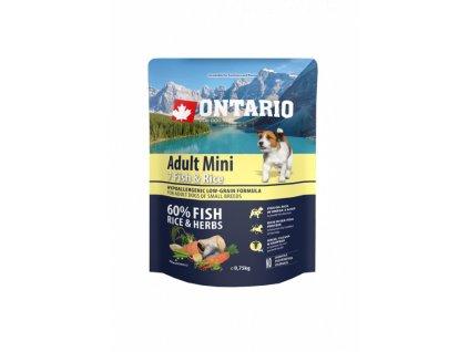 ontario adult mini fish rice 0 75kg original