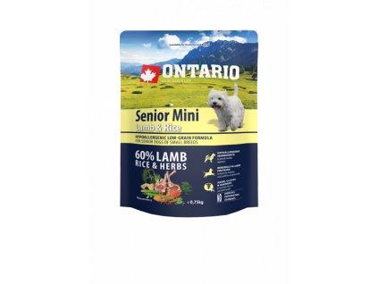 ontario senior mini lamb rice 0 75kg original