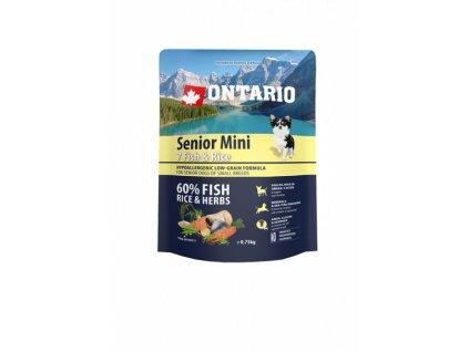 ontario senior mini fish rice 0 75kg original